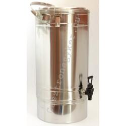 Duplafalú italtermosz 20 literes, rozsdamentes, 30×52 cm