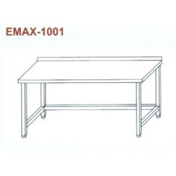 Munkaasztal lábösszekötővel, hátsó felhajtással Emax-1001 KR 1200×700×850