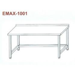 Munkaasztal lábösszekötővel, hátsó felhajtással Emax-1001 KR 1300×700×850