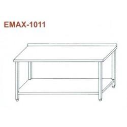 Munkaasztal alsó polccal, hátsó felhajtással Emax-1011 KR 1100×700×850