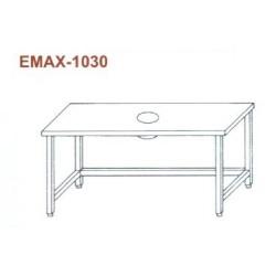 Munkaasztal hulladékledobó nyílással, lábösszekötővel Emax-1030 KR 1300×700×850