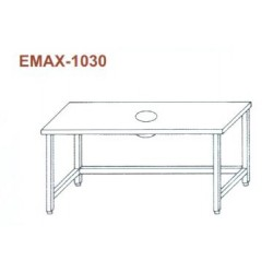 Munkaasztal hulladékledobó nyílással, lábösszekötővel Emax-1030 KR 1700×700×850