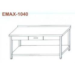 Munkaasztal alsó polccal, 1db fiókkal, hátsó felhajtással Emax-1040 KR 1300×700×850
