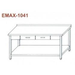 Munkaasztal alsó polccal, 2db fiókkal, hátsó felhajtással Emax-1041 KR 1300×700×850