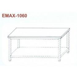 Munkaasztal alsó polccal, műanyag munkalappal Emax-1060 KR 1300×700×850