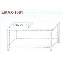 Munkaasztal alsó polccal, 500x500x20 műanyag vágólappal Emax-1061 KR 1300×700×850
