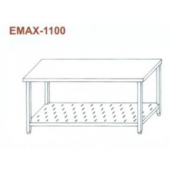 Munkaasztal perforált alsó polccal Emax-1100 KR 1500×700×850