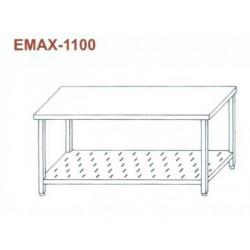 Munkaasztal perforált alsó polccal Emax-1100 KR 1600×700×850