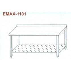 Munkaasztal perforált alsó polccal, hátsó felhajtással Emax-1101 KR 1300×700×850