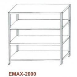 Tároló állvány 4 sima polccal Emax-2000 KR 1600x500x1800