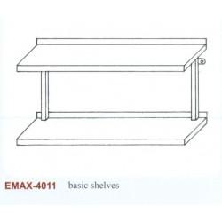 Falipolc 2 szintes sima Emax-4011 KR 1200x300