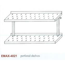 Falipolc 2 szintes perforált Emax-4021 KR 1300x300