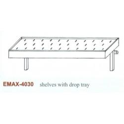 Falipolc csepegtetőtálcás Emax-4030 KR 1100×300
