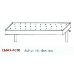 Falipolc csepegtetőtálcás Emax-4030 KR 1500×300