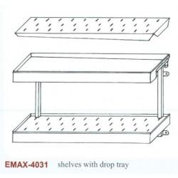 Falipolc 2 szintes csepegtetőtálcás Emax-4031 KR 1400x300