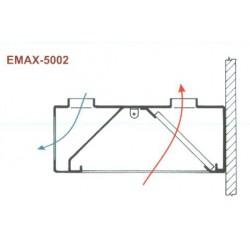 Elszívóernyő Fali, frisslevegő befúvással Emax-5002 KR 2400×1200×400