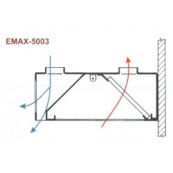 Elszívóernyő Fali, két irányú frisslevegő befúvással Emax-5003 KR 2400×1200×400