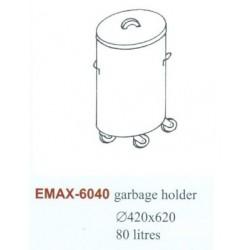 Hulladéktároló Emax-6040 KR gördíthető, 80 literes Átmérő:420×620