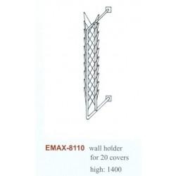 Fedőtartó fali Emax-8110, (20dbfedő), Magasság:1400