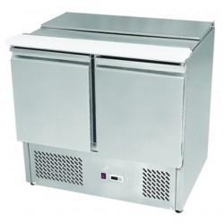 Salátahűtő asztal felnyitható fedéllel  900×700×890 mm GNTC-S900