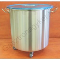Ételmaradék-tároló 49 liter, 40×40 cm, rozsdamentes (mosléktároló)