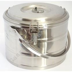 Badella ételszállító 10 liter duplafalú 30x23 cm