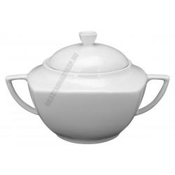 Emese levesestál, szögletes, porcelán 4,5 liter