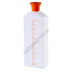 Szirupadagoló mércés flakon, 10x5,6x27,5 cm, 1 liter