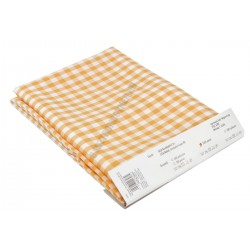 Abrosz 140×140 cm sárga kockás