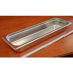 GN edény 2/4 65 mm 3,5 liter rozsdamentes