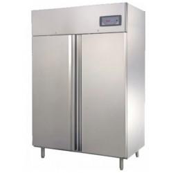 Teleajtós, kétajtós hűtőszekrény 1200 l, rozsdamentes külsővel GNC1400L2