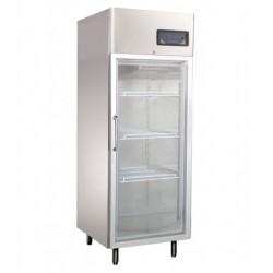 Üvegajtós hűtővitrin Gn 2/1 polcmérettel rozsdamentes 550 literes