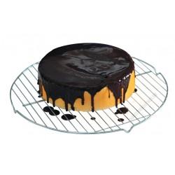 Sütőrács, kerek, 40 cm, rozsdamentes