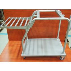 Gördíthető tárolóállvány, rozsdamentes anyagból egyetemes konyhagéphez GM-HGA-150