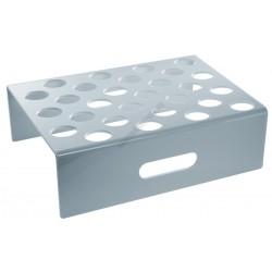 Jégkrémállvány kupakos formához, 28 db-os, fehér, plexi