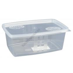 Ételszállító edény fedővel 0,8 liter 100 db/csomag