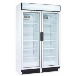 Két üvegajtós, felépítményes hűtővitrin 2x345liter