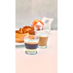 Kenya kávés pohár, 130 ml, temperált, üveg