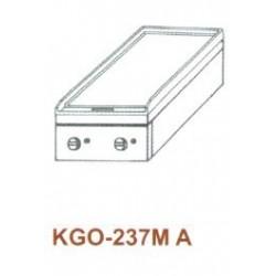 Gáz Főzőasztal, asztali, 2 égő, 1 sima v. bordás sütőlappal KGO-237 MA 3
