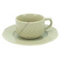 Afrodyta teáscsésze + alj, 16 cm, 190 ml, bézs