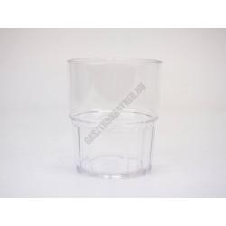 Polikarbonát pohár, 180 ml, egymásba rakható