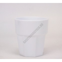 Polikarbonát pohár, 250 ml, fehér, Kasablanka
