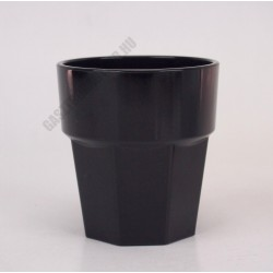 Polikarbonát pohár, 250 ml, fekete, Kasablanka