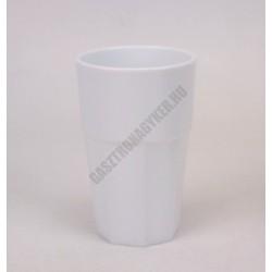 Polikarbonát pohár, 300 ml, fehér, Kasablanka