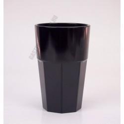Polikarbonát pohár, 300 ml, fekete, Kasablanka