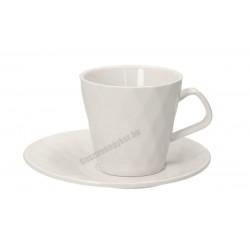 Diamante teáscsésze + alj, 210 ml, 4 darab/csomag, porcelán