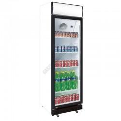 Üvegajtós hűtővitrin, 360 liter