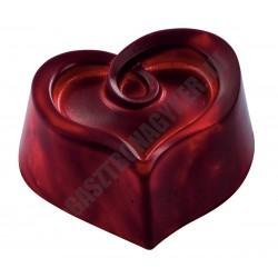 Bonbon csokoládéforma, szív, (MA1962), 30 adag, polikarbonát