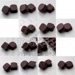 Dekoráló szett csokoládéhoz, 13 db, 360x340 mm, műanyag