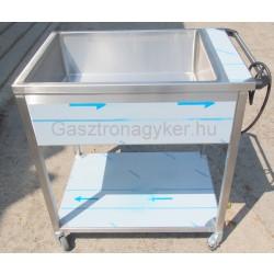 Elektromos vízfűrdős melegentartó gördíthető NM-1200